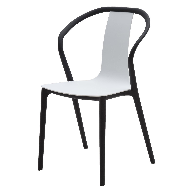 Sedia moderna in polipropilene nero e bianco 2 pezzi for Sedia moderna bianca