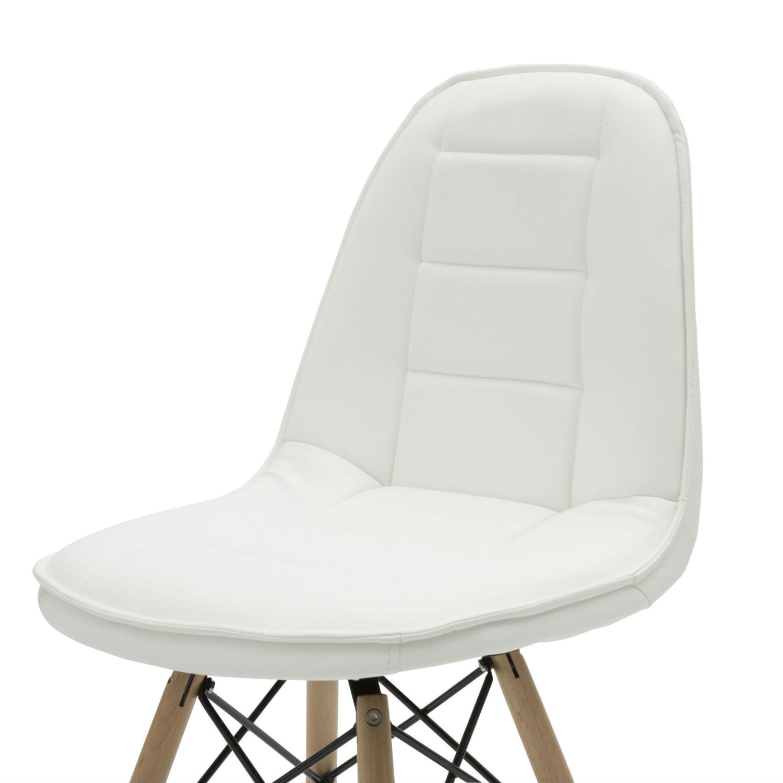 Sedia moderna per ufficio in ecopelle bianca 2 pezzi for Sedia moderna bianca