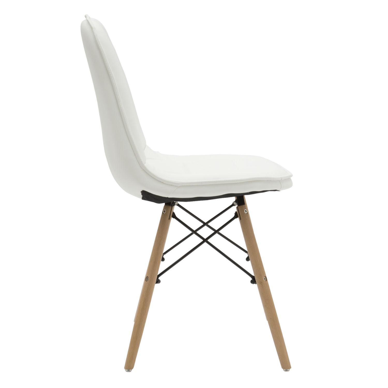 Sedia moderna per ufficio in ecopelle bianca 2 pezzi for Sedia bianca moderna