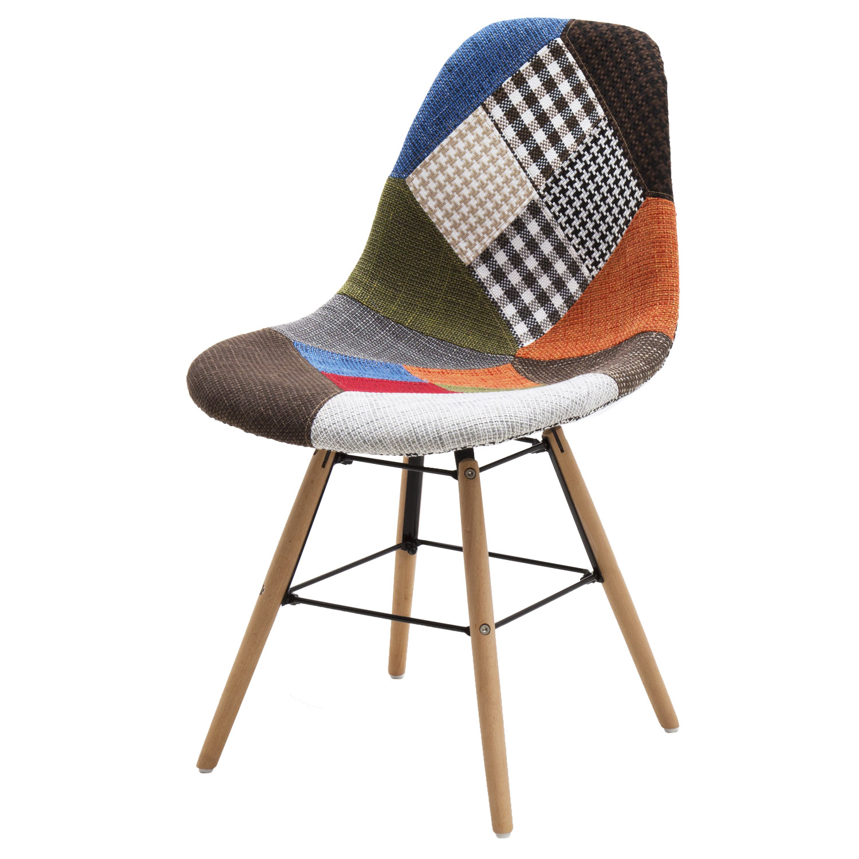 Sedia patchwork multicolor tiranti in ferro 2 pezzi for Sedia patchwork offerta