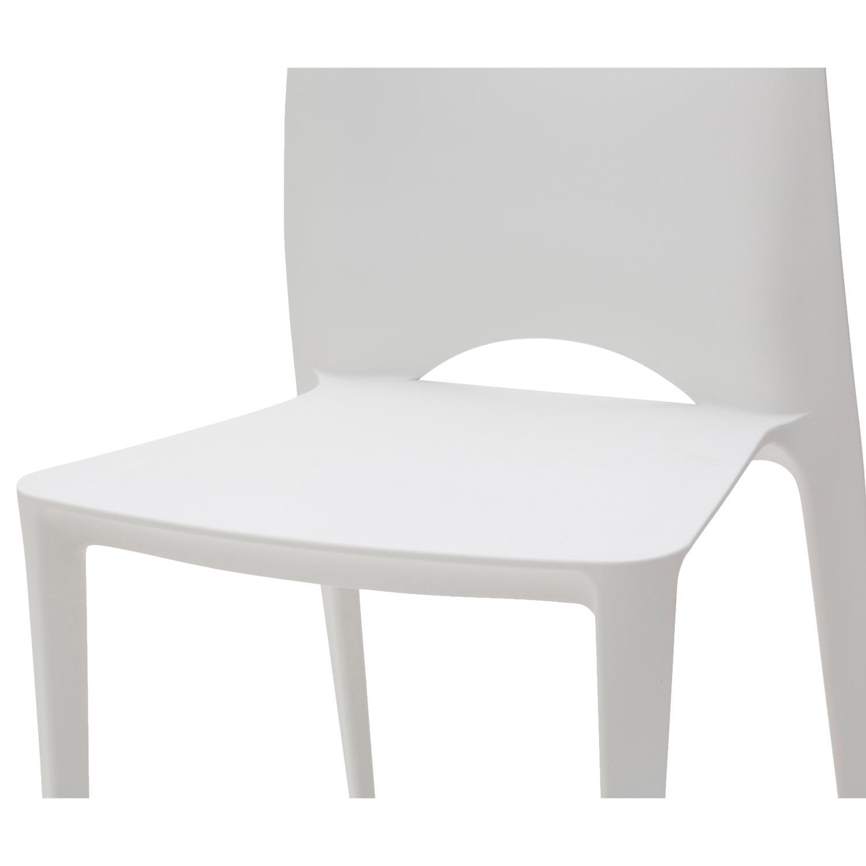 Sedia moderna impilabile bianca 4 pezzi disponibile anche for Sedia plastica bianca
