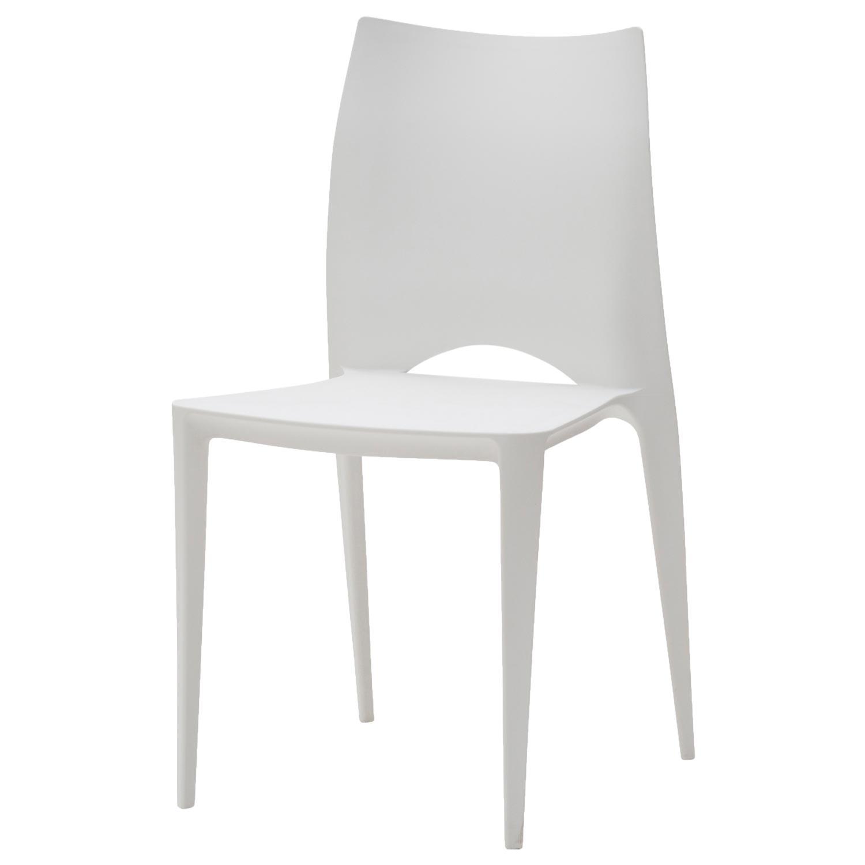sedia moderna impilabile bianca 4 pezzi disponibile anche