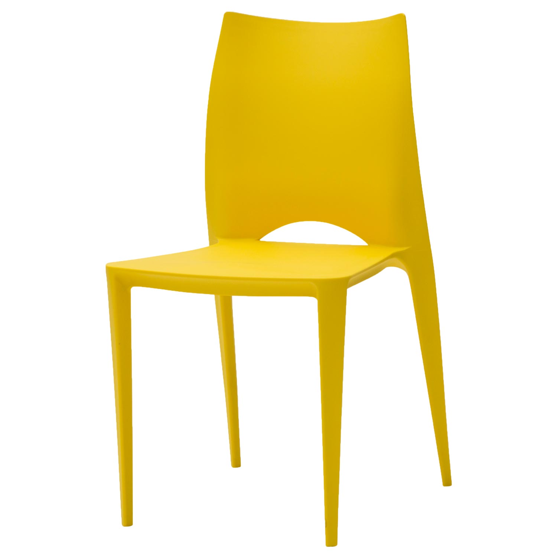 Sedia Moderna Impilabile Gialla 4 Pezzi Disponibile Anche