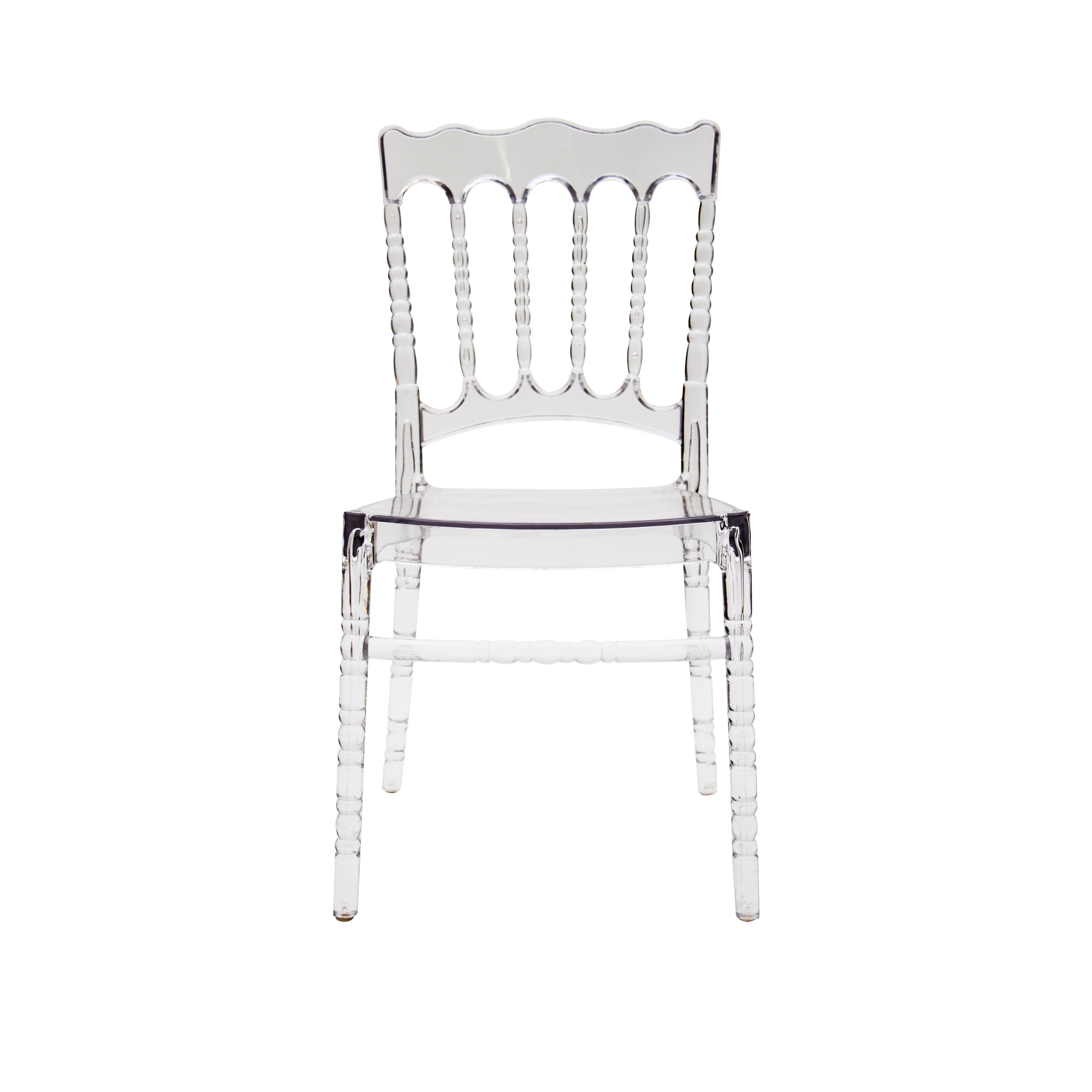 Sedie Trasparenti In Plastica.Sedia In Polipropilene Colore Trasparente 4 Pezzi
