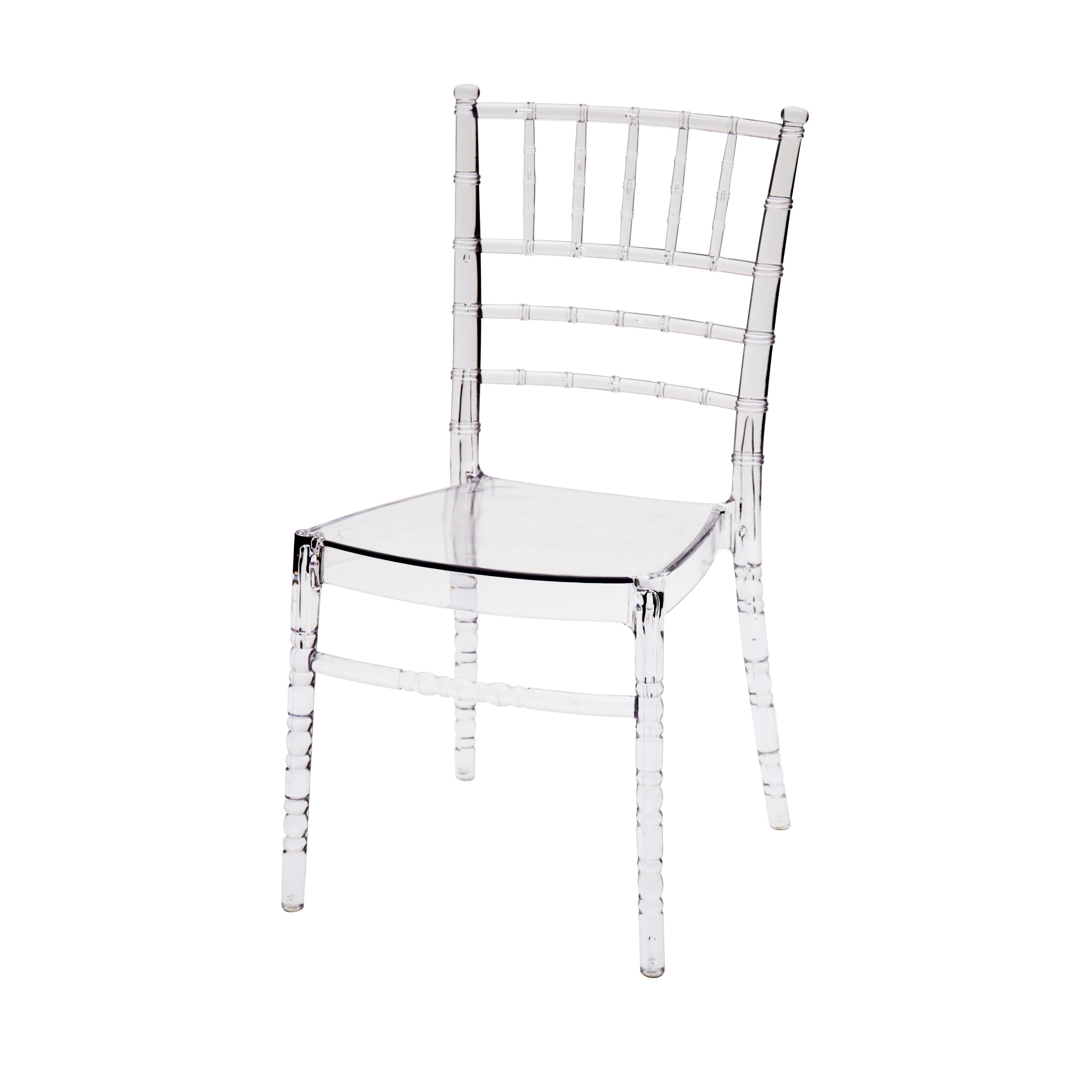 Sedia in Polipropilene Colore Trasparente 4 Pezzi