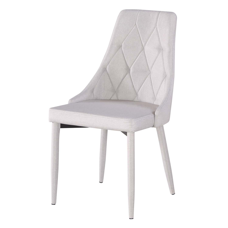 Sedia moderna in tessuto grigio a rombi 4 pezzi disponibile anche in altri colori - Sedia studio ikea ...