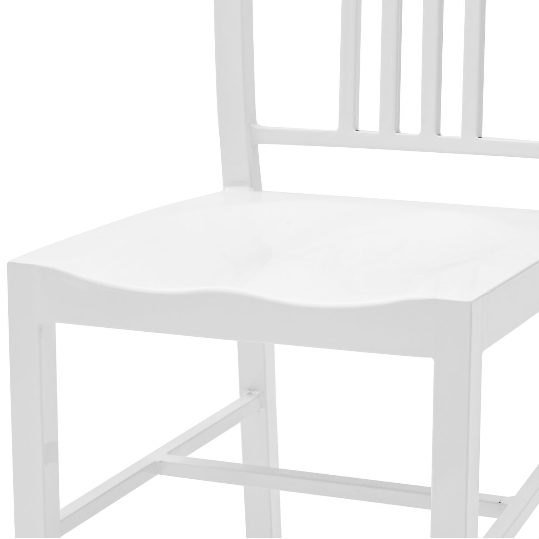 Sedia moderna bianca lucida con seduta sagomata acquista for Sedia moderna bianca