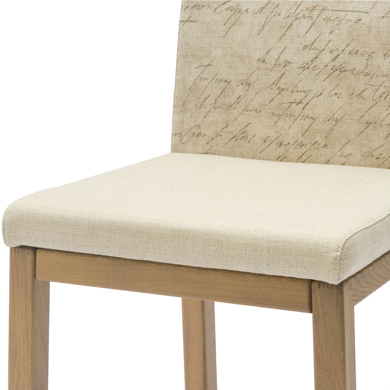 finest sedia moderna in legno di rovere con schienale e seduta imbottiti con tessuto city in confezione da pezzi with se rovere