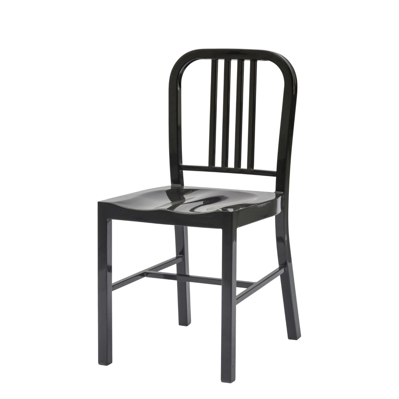 Sedia moderna lucida nera con seduta sagomata design di for Sedia moderna design