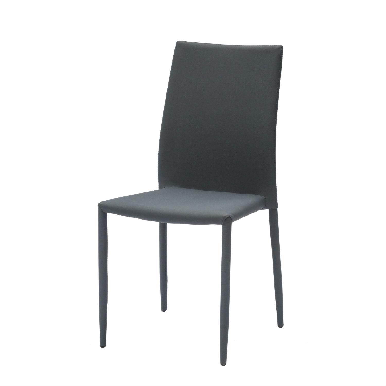 Sedia Moderna Per Soggiorno Rivestita In Tessuto Grigio In Confezione Da 6  Pezzi (disponibile anche in altri colori)