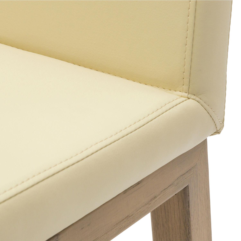 Sedia Moderna In Legno Di Rovere In Ecopelle. Qualità e design ...