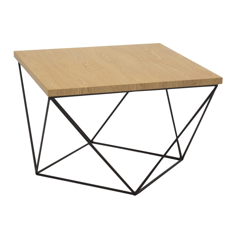 Tavolino quadrato con piano in mdf e gambe in ferro for Ferro tubolare quadrato prezzo