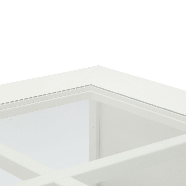 Tavolino Moderno Quadrato Basso Da Soggiorno In Legno Laccato Bianco ...