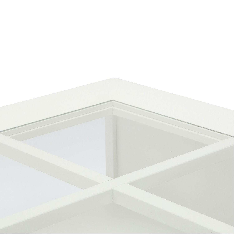 Tavolino Moderno Rettangolare Da Soggiorno In Legno Laccato Bianco ...