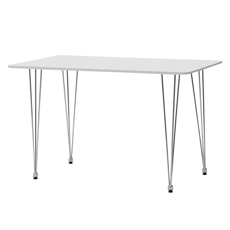 Tavolo moderno rettangolare bianco con gambe in ferro - Gambe in ferro per tavoli ...
