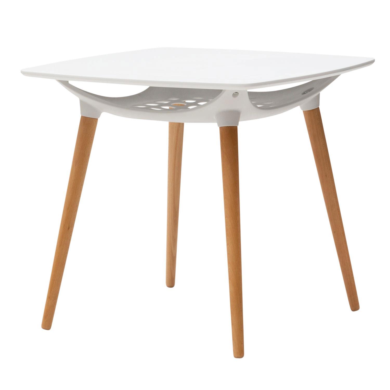 Tavolo moderno con portaoggetti bianco for Tavolo rotondo bianco moderno