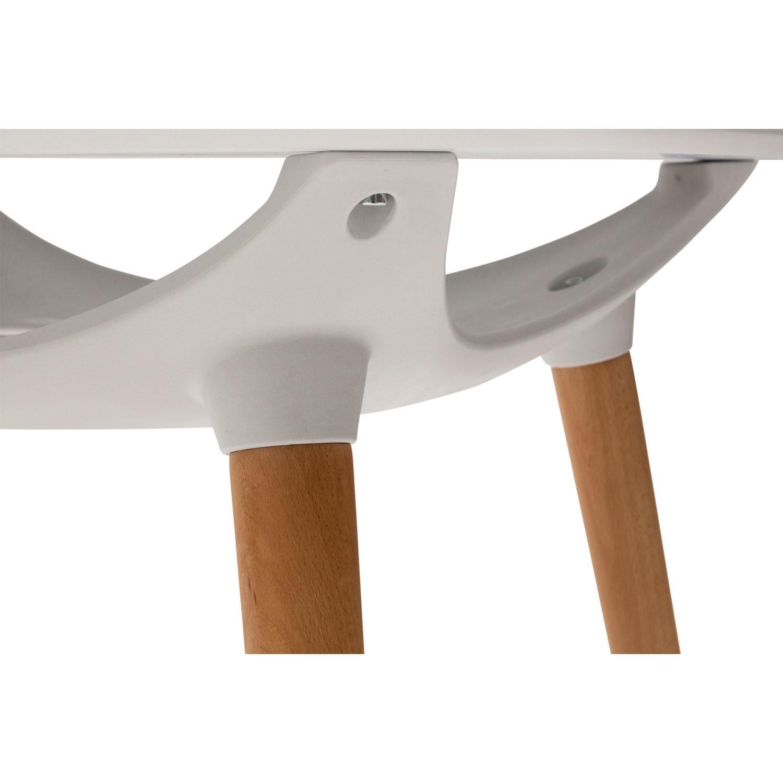 Tavolo Moderno con Portaoggetti Bianco