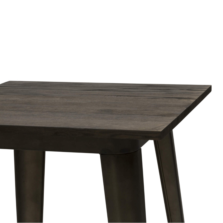 Tavolo Alto Moderno Quadrato da Bar Testa di Moro Piano Legno