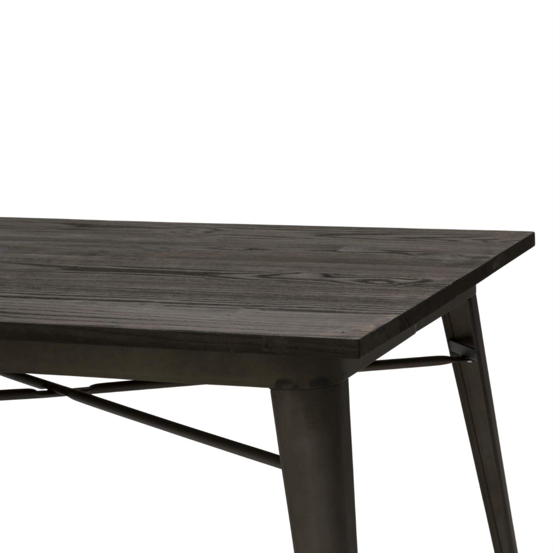 Tavolo Moderno Rettangolare da Bar Testa di Moro Piano Legno