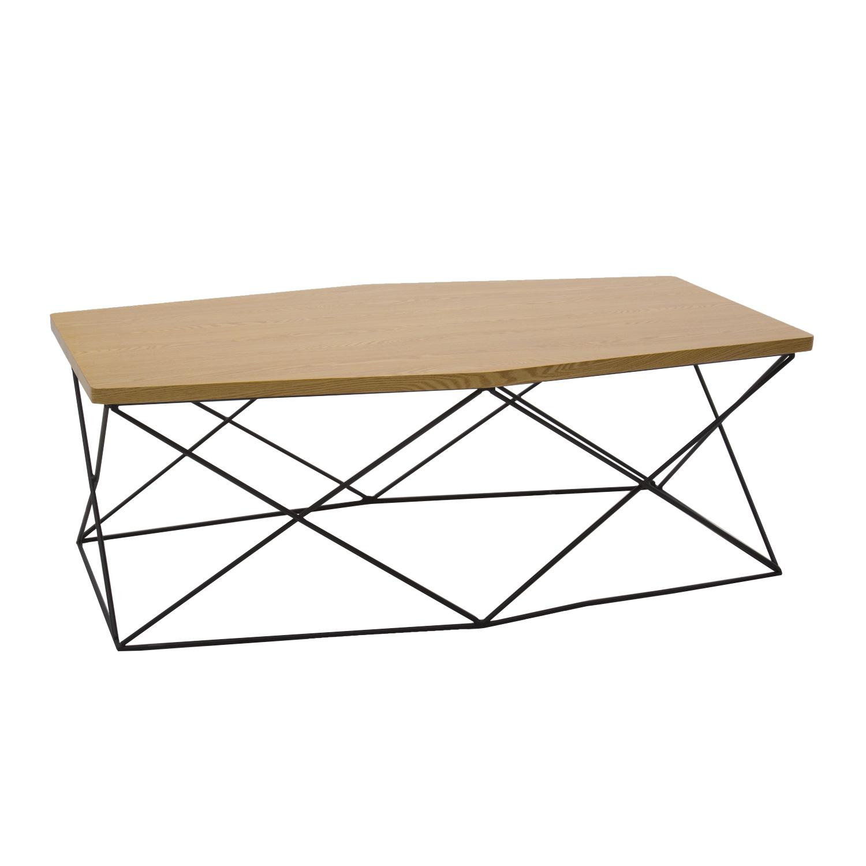 Tavolino Esagonale con Piano in MDF e Gambe in Ferro