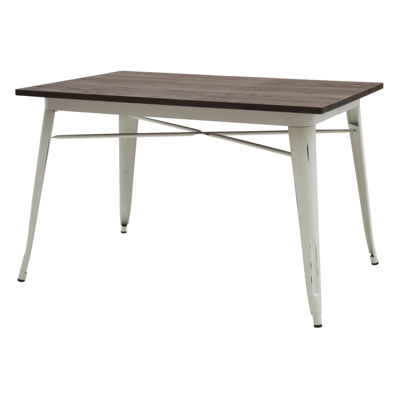 Tavolo moderno rettangolare da bar bianco anticato piano legno - Piano tavolo legno ...
