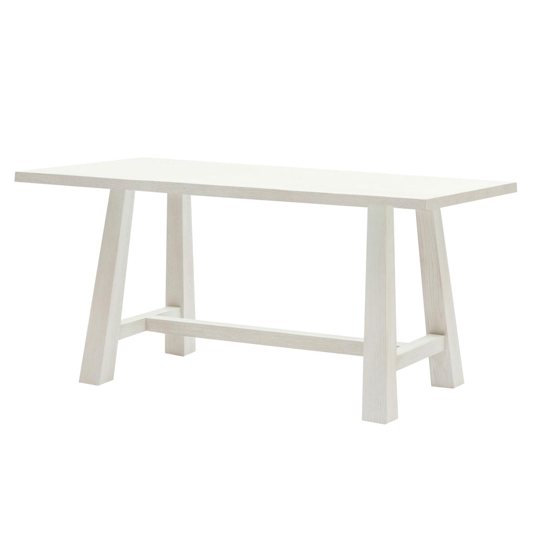 Tavolo rettangolare da pranzo con struttura e piano in for Tavolo rovere bianco