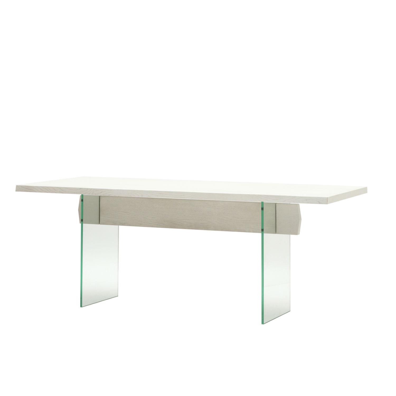 Tavolo rettangolare con struttura in rovere for Tavolo rovere bianco