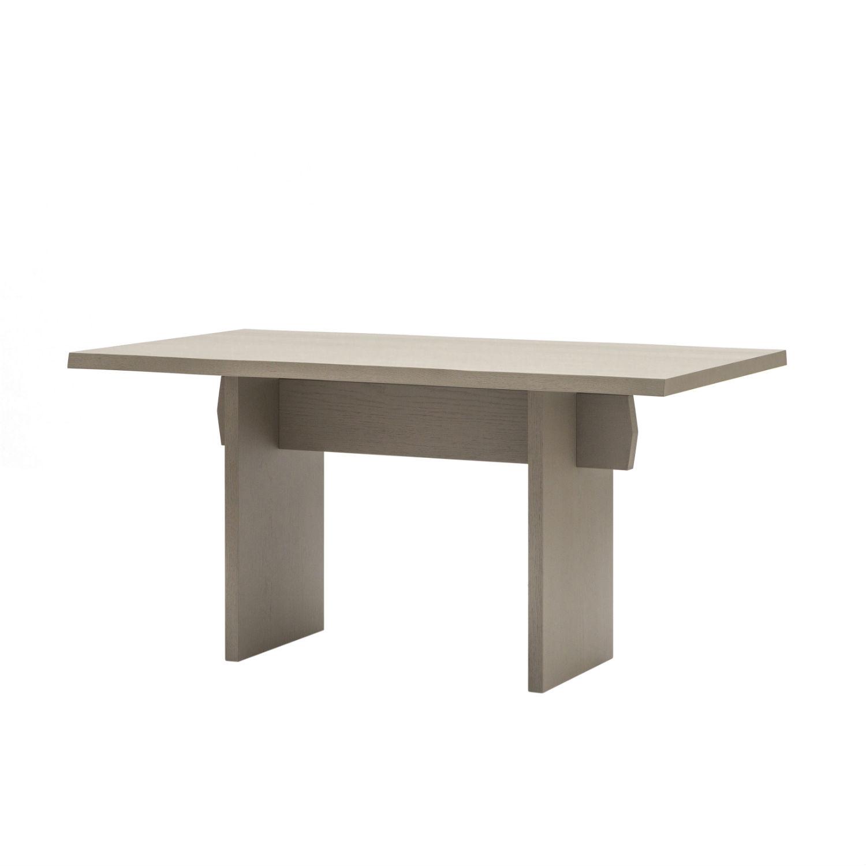 Tavolo rettangolare da pranzo con struttura e piano in for Tavolo grigio