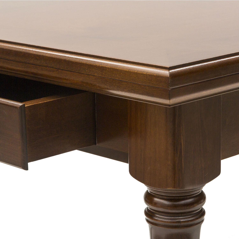 Tavolo classico rettangolare a libro in legno for Tavoli a libro moderni