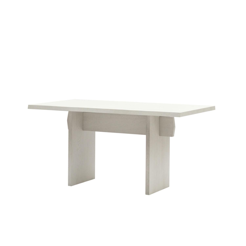 Tavolo rettangolare da pranzo con struttura e piano in rovere - Tavolo da pranzo bianco ...