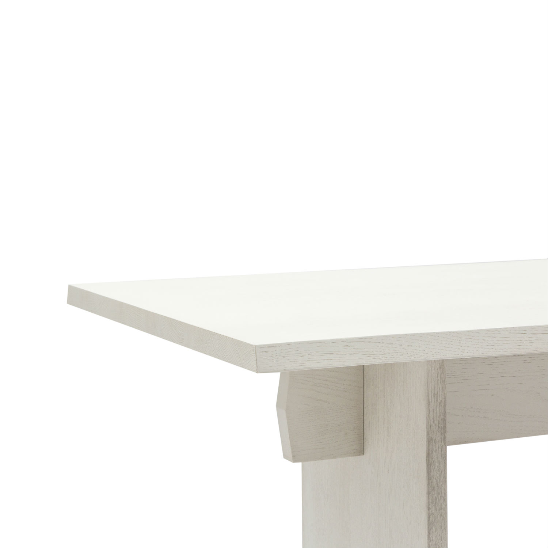 Tavolo rettangolare da pranzo con struttura e piano in rovere for Tavolo rovere bianco