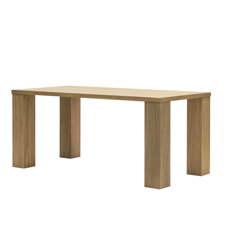 Tavolo moderno da pranzo con gambe a colonna e piano in rovere naturale disponibile anche in - Runner da tavolo moderno ...