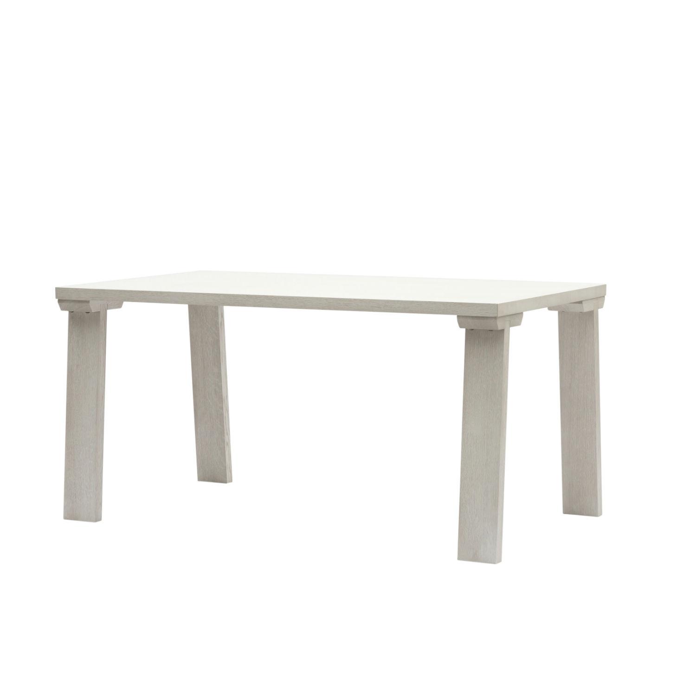 Tavolo Rovere Bianco.Tavolo Moderno Con Gambe Inclinate E Piano In Rovere Bianco Cm 160 Disponibile Anche In Altri Colori