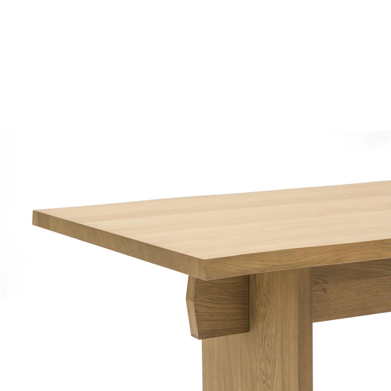 Tavolo rettangolare da pranzo con struttura e piano in rovere ...