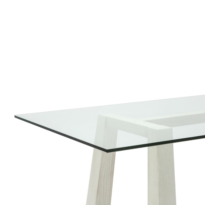 Tavolo rettangolare da pranzo con struttura in rovere for Tavolo rovere bianco